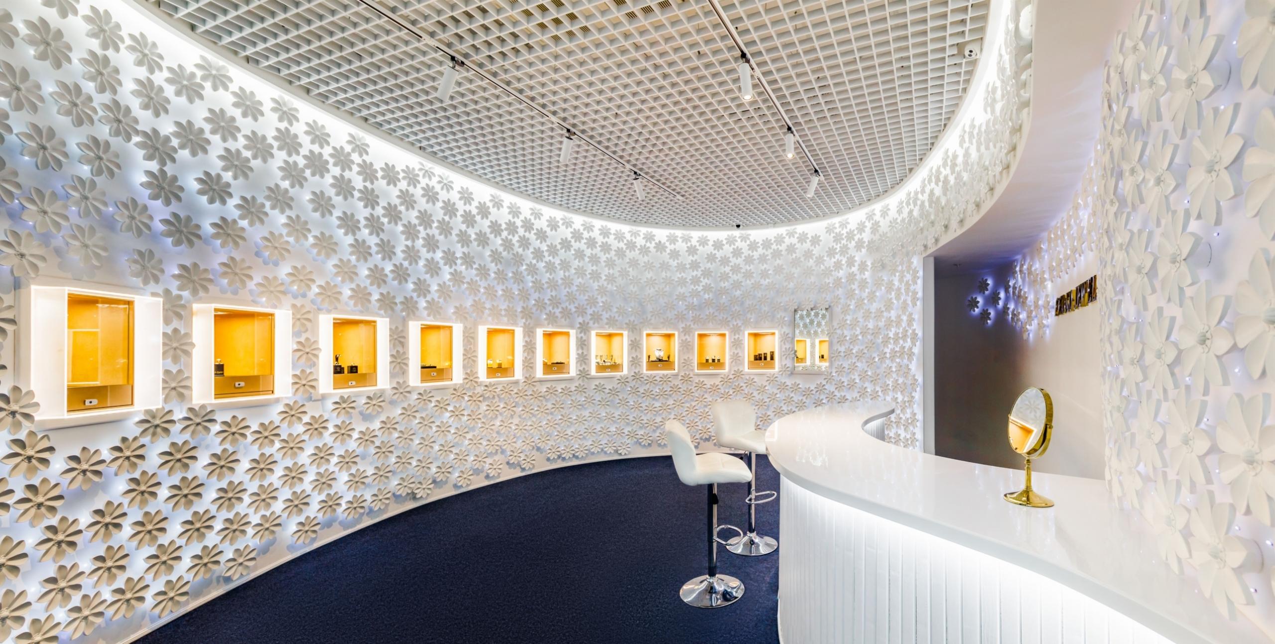 Светодиодное освещение Ювелирный бутик в Сочи